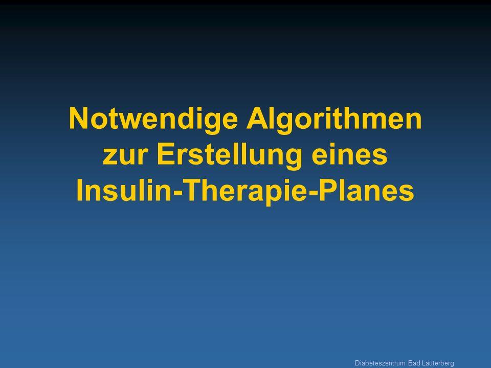 Diabeteszentrum Bad Lauterberg Notwendige Algorithmen zur Erstellung eines Insulin-Therapie-Planes