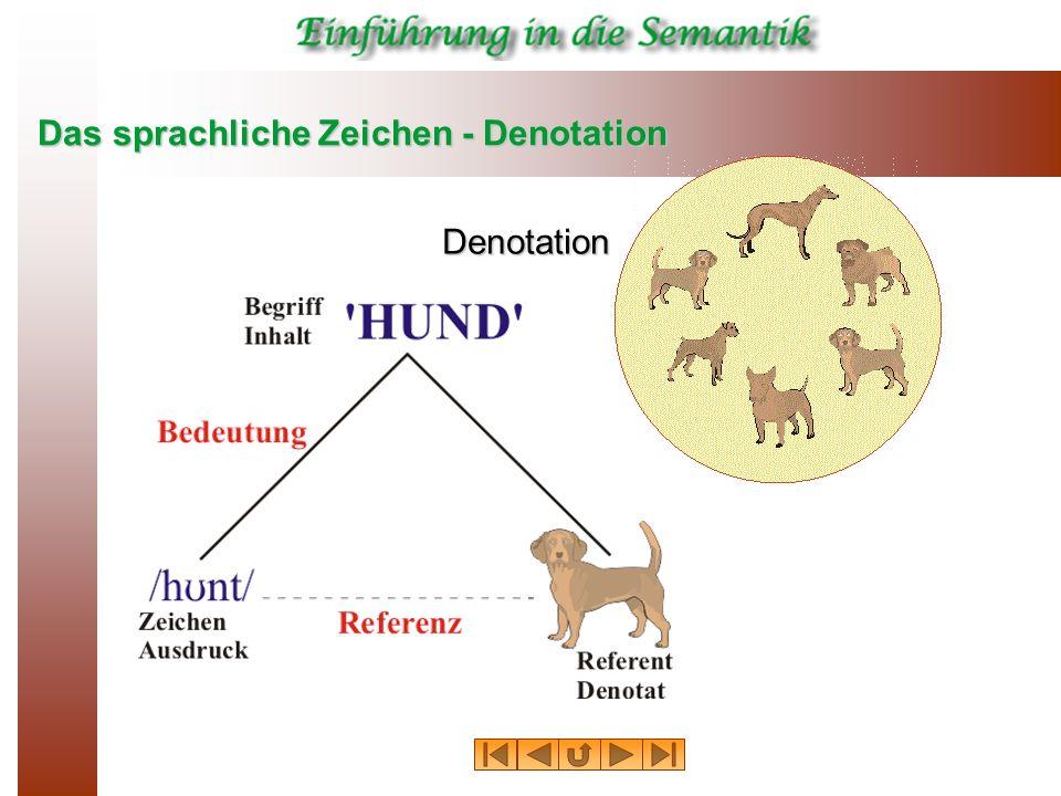 Das sprachliche Zeichen - Denotation Denotation