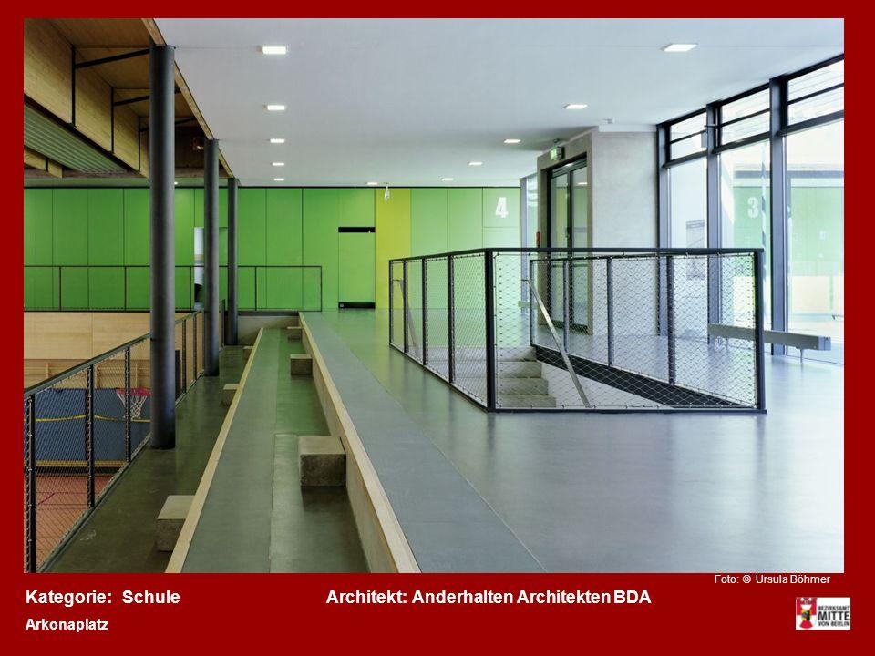 Kategorie:Architekt:SchuleAnderhalten Architekten BDA Arkonaplatz Foto: © Ursula Böhmer