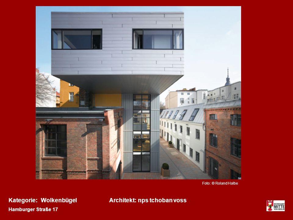 Kategorie:Architekt:Wolkenbügelnps tchoban voss Hamburger Straße 17 Foto: © Roland Halbe