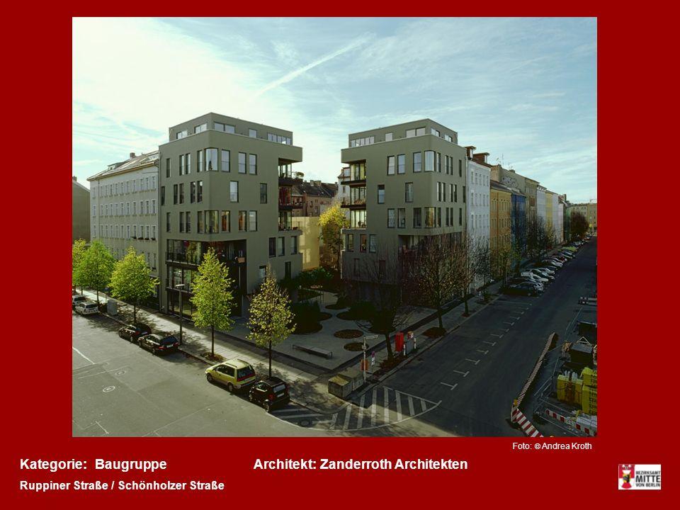 Kategorie:Architekt:BaugruppeZanderroth Architekten Ruppiner Straße / Schönholzer Straße Foto: © Andrea Kroth