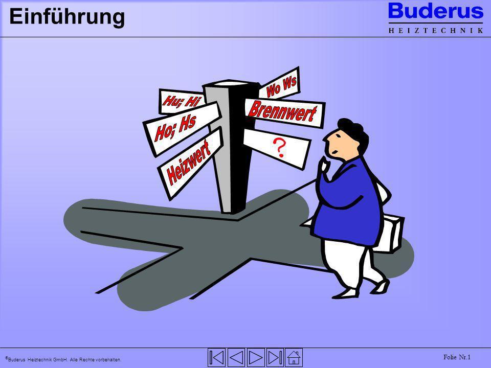 Buderus Heiztechnik GmbH. Alle Rechte vorbehalten. Folie Nr.1 Einführung