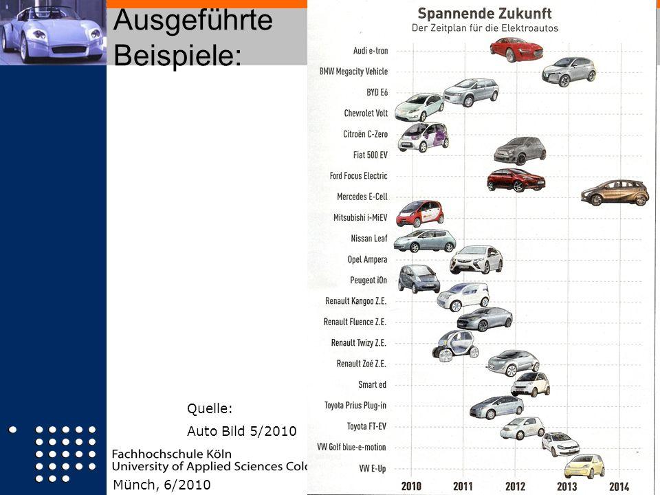 Ausgeführte Beispiele: Münch, 6/2010 Quelle: Auto Bild 5/2010