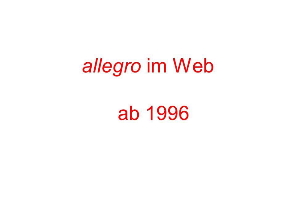 allegro im Web ab 1996