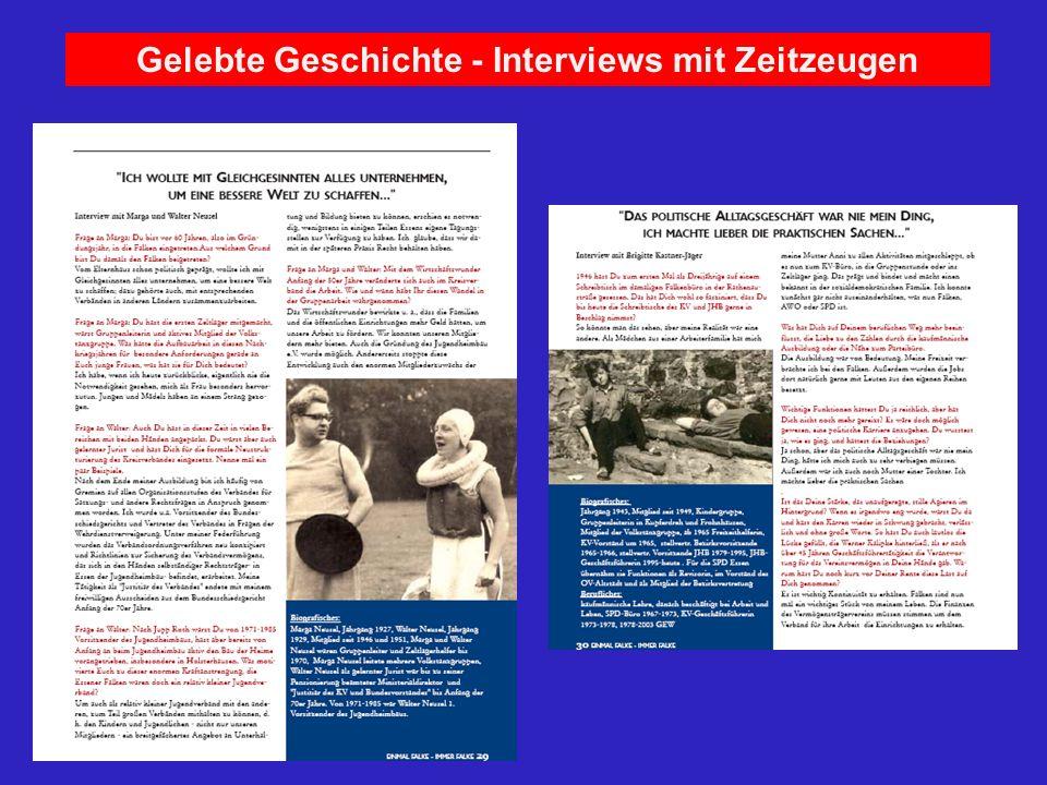 Gelebte Geschichte - Interviews mit Zeitzeugen 1950 Skifreizeit in Willingen Wahlkampfhilfe zur Bundestagswahl für die SPD geschah oft durch die Auftr
