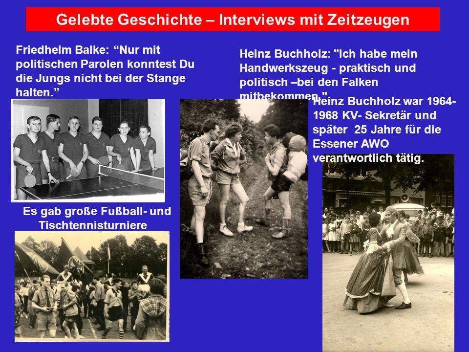 Gelebte Geschichte – Interviews mit Zeitzeugen Heinz Buchholz: