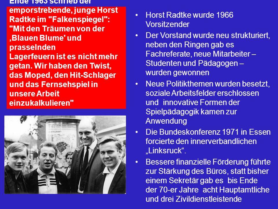Ende 1963 schrieb der emporstrebende, junge Horst Radtke im