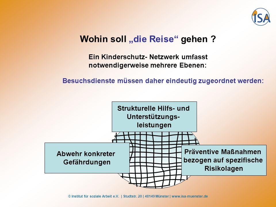 © Institut für soziale Arbeit e.V. | Studtstr. 20 | 48149 Münster | www.isa-muenster.de Wohin soll die Reise gehen ? Ein Kinderschutz- Netzwerk umfass