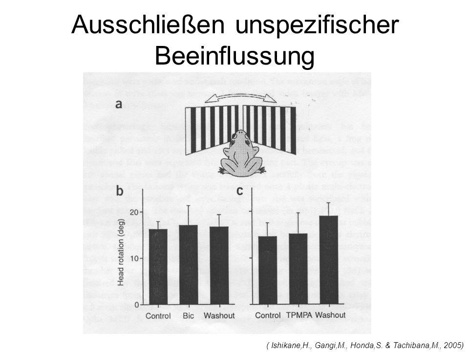 Ausschließen unspezifischer Beeinflussung ( Ishikane,H., Gangi,M., Honda,S. & Tachibana,M., 2005)