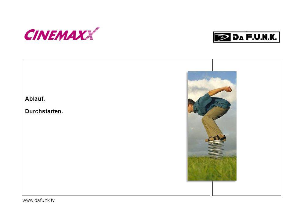www.dafunk.tv Ablauf. Durchstarten.