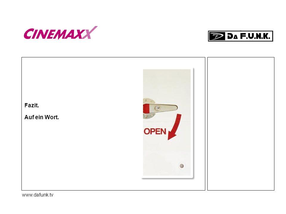 www.dafunk.tv Fazit. Auf ein Wort.