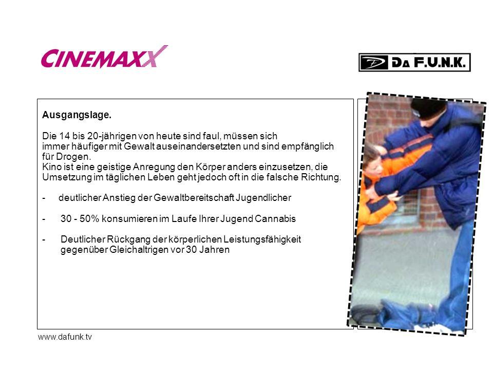 www.dafunk.tv Kinos.Das Kino ist ein Ort, an dem man dem Alltag entfliehen kann.
