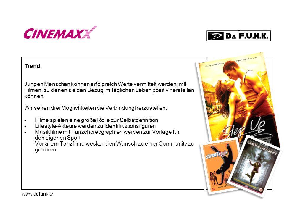 www.dafunk.tv Trend. Jungen Menschen können erfolgreich Werte vermittelt werden; mit Filmen, zu denen sie den Bezug im täglichen Leben positiv herstel