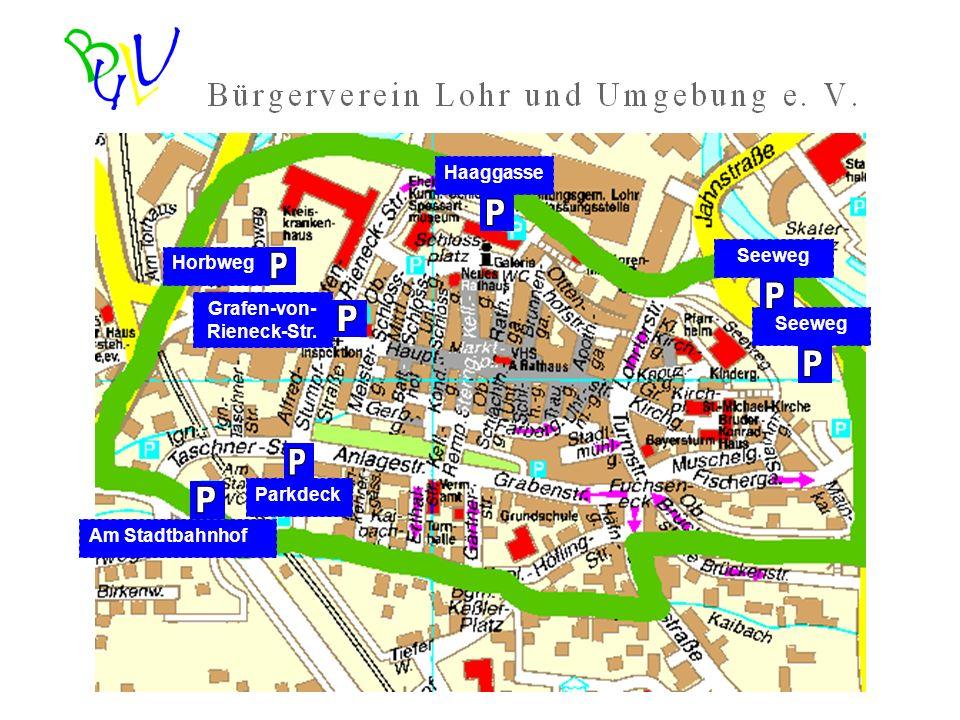Am Stadtbahnhof Parkdeck HorbwegGrafen-von- Rieneck-Str. HaaggasseSeeweg