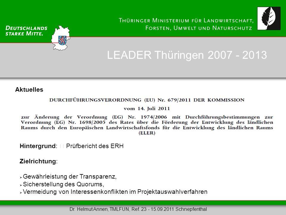 Aktuelles Hintergrund: Prüfbericht des ERH Zielrichtung: Gewährleistung der Transparenz, Sicherstellung des Quorums, Vermeidung von Interessenkonflikt
