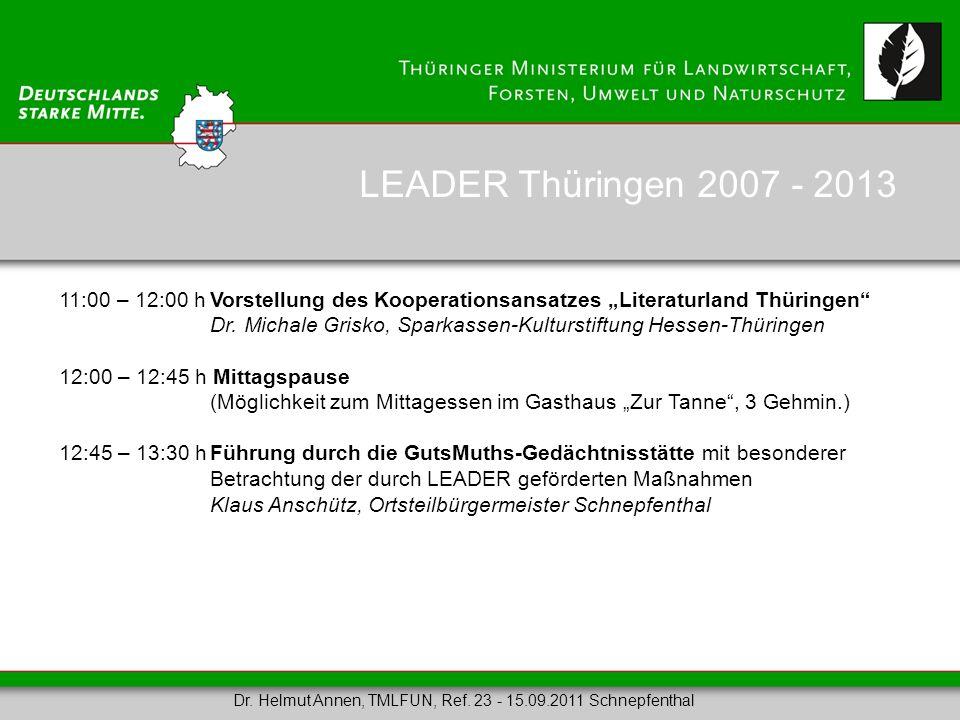 11:00 – 12:00 hVorstellung des Kooperationsansatzes Literaturland Thüringen Dr. Michale Grisko, Sparkassen-Kulturstiftung Hessen-Thüringen 12:00 – 12: