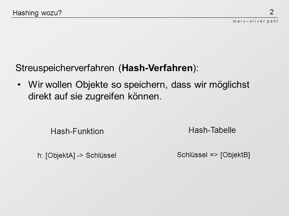2 m a r c – o l i v e r p a h l Hashing wozu.
