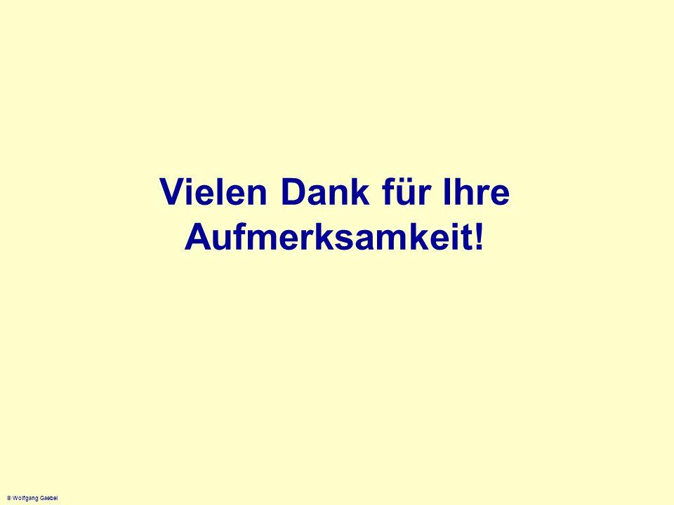 © Wolfgang Gaebel Vielen Dank für Ihre Aufmerksamkeit!