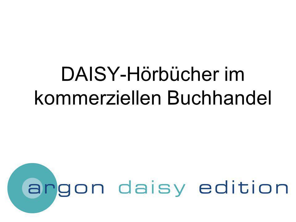 DAISY-Hörbücher im kommerziellen Buchhandel