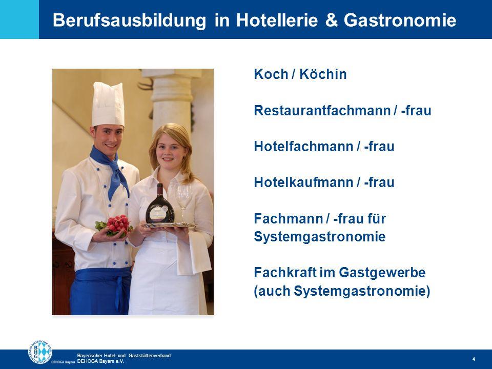 Zurück zur ersten Seite Bayerischer Hotel- und Gaststättenverband DEHOGA Bayern e.V. Berufsausbildung in Hotellerie & Gastronomie 4 Koch / Köchin Rest