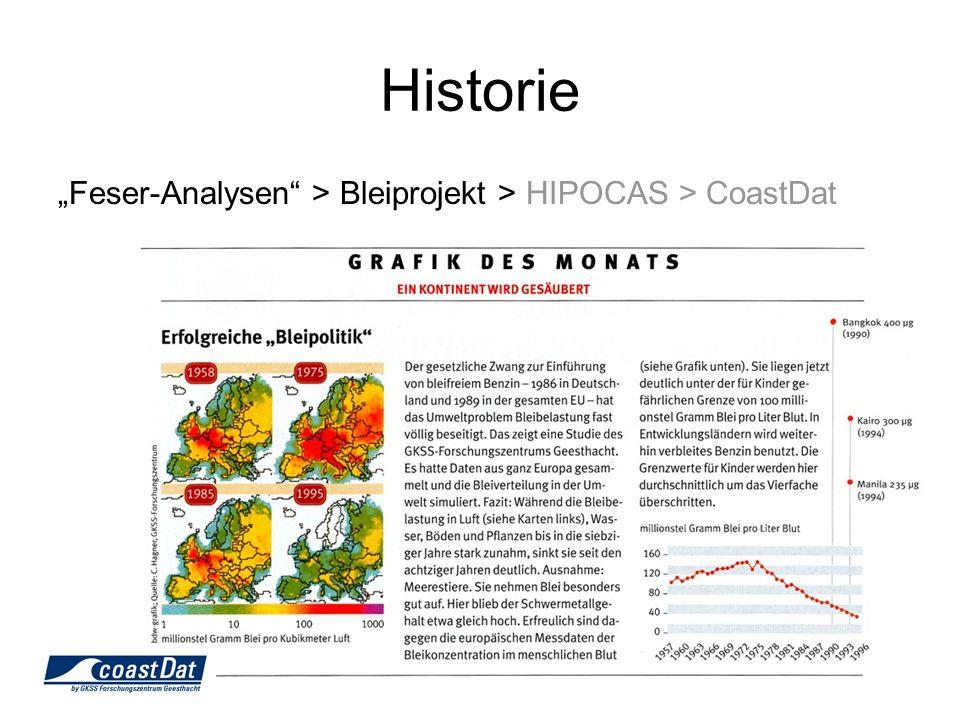 Feser-Analysen > Bleiprojekt > HIPOCAS > CoastDat