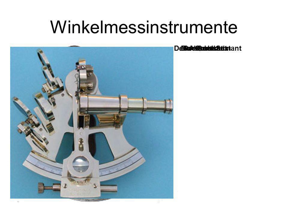 Winkelmessinstrumente Der JakobsstabDer QuadrantDas AstrolabiumDer SextantModerner Sextant