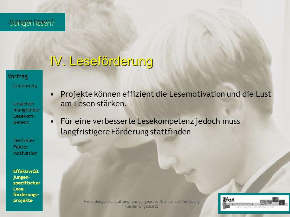 Jungen lesen? Fortbildungsveranstaltung zur jungenspezifischen Leseförderung Kerstin Engelhardt Vortrag Einführung Ursachen mangelnder Lesekom- petenz