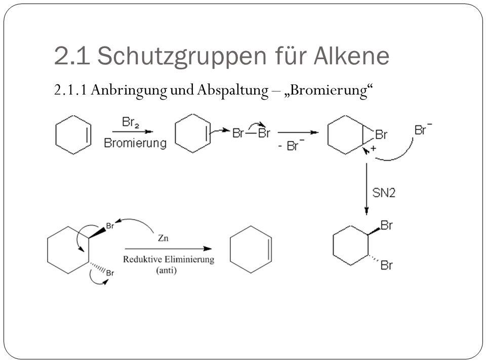 2.1 Schutzgruppen für Alkene 2.1.1 Anbringung und Abspaltung – Bromierung