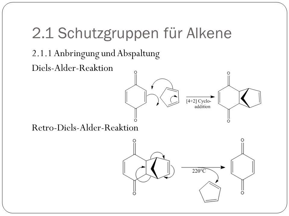 2.2 Schutzgruppen für Alkine 2.2.1 Schutzgruppen für endständige Alkine betreffen nicht die Dreifachbindung selbst, sondern die C-H Acidität des endständigen H.