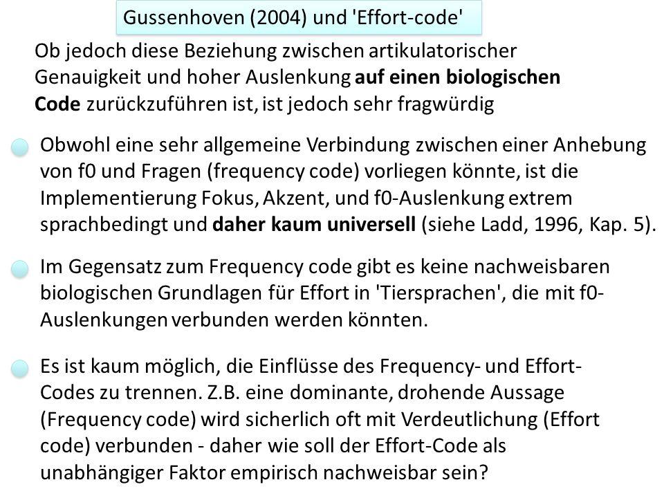 Effort code und f0: (Gussenhoven (2004).
