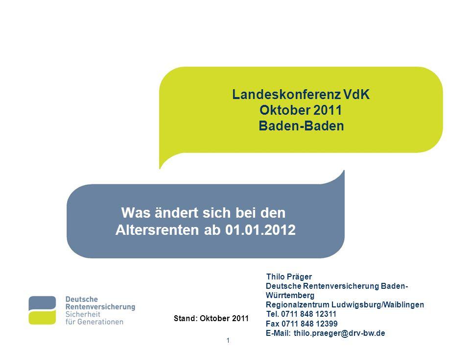 Thilo Präger Deutsche Rentenversicherung Baden- Würrtemberg Regionalzentrum Ludwigsburg/Waiblingen Tel.