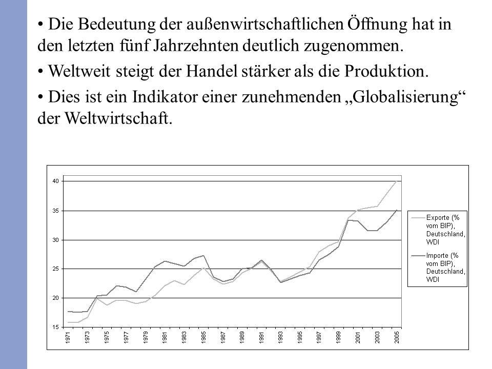 330 Durch die Berücksichtigung des Auslands verändern sich auch die anderen Konten der volkswirtschaftlichen Gesamtrechnung.