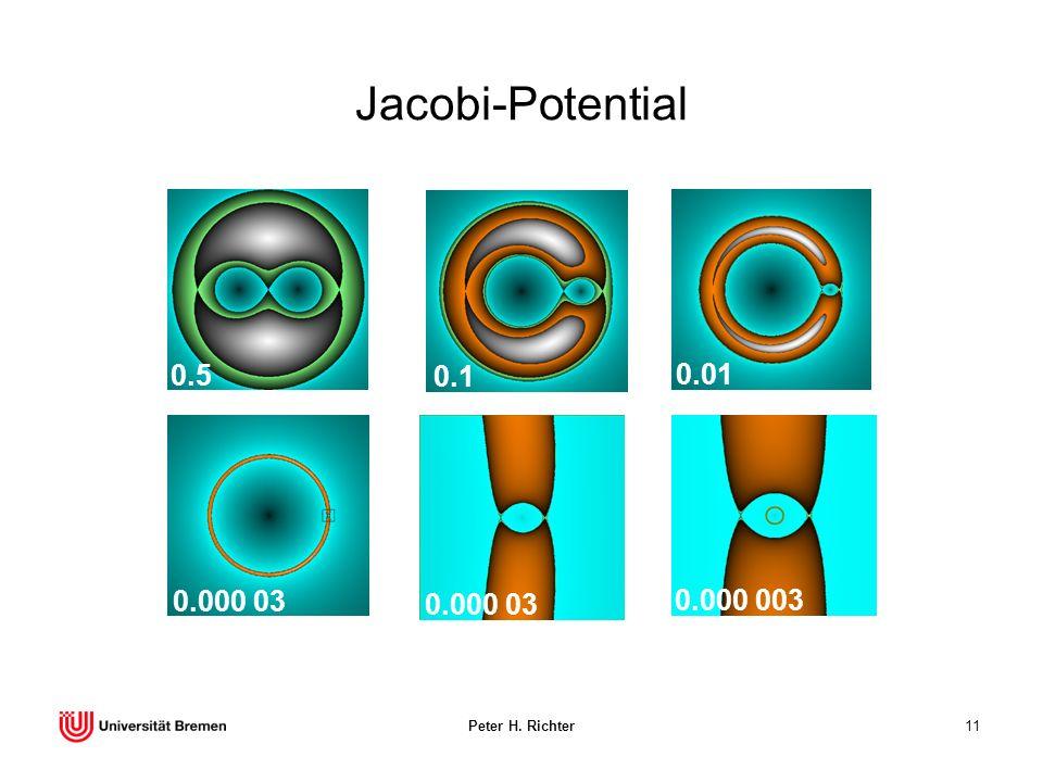 Peter H. Richter11 Jacobi-Potential 0.000 03 0.000 003 0.5 0.1 0.01 0.000 03