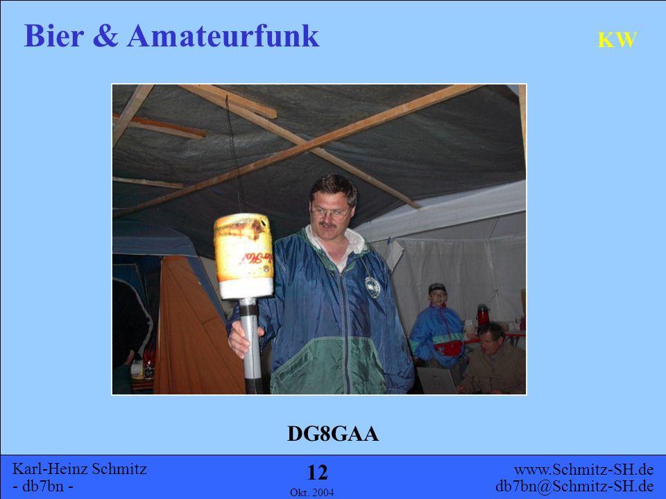 Karl-Heinz Schmitz - db7bn - Bier & Amateurfunk www.Schmitz-SH.de db7bn@Schmitz-SH.de Okt. 2004 11 KW Schon in den 70'er Jahren ist dieses Prinzip der