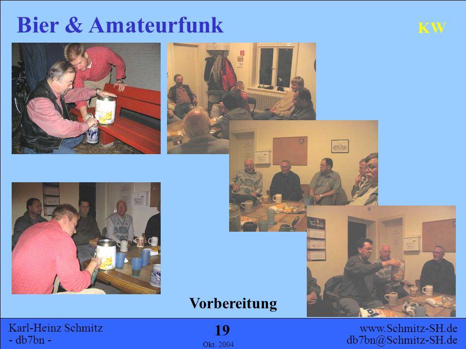 Karl-Heinz Schmitz - db7bn - Bier & Amateurfunk www.Schmitz-SH.de db7bn@Schmitz-SH.de Okt. 2004 18 KW Der Bau einer eigenen KW Bierdosenantenne