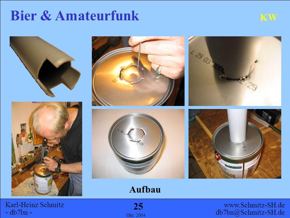 Karl-Heinz Schmitz - db7bn - Bier & Amateurfunk www.Schmitz-SH.de db7bn@Schmitz-SH.de Okt. 2004 24 KW Adapter für Spieth-Mast