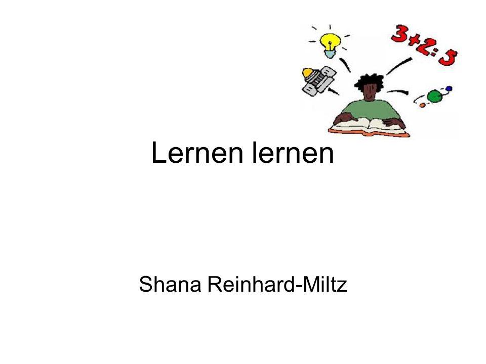 Lernen lernen Shana Reinhard-Miltz