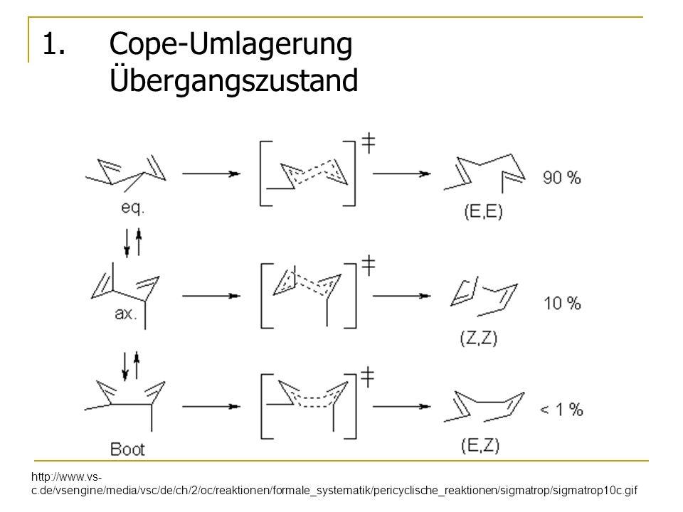 1. Cope-Umlagerung Übergangszustand http://www.vs- c.de/vsengine/media/vsc/de/ch/2/oc/reaktionen/formale_systematik/pericyclische_reaktionen/sigmatrop