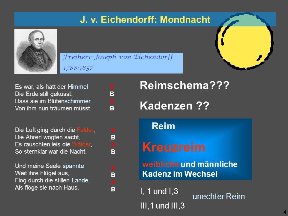 3 3 Caspar David Friedrich: Mann und Frau den Mond betrachtend Es war, als hätt der Himmel Die Erde still geküsst, Dass sie im Blütenschimmer Von ihm