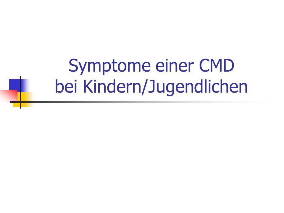 Symptome einer CMD bei Kindern/Jugendlichen