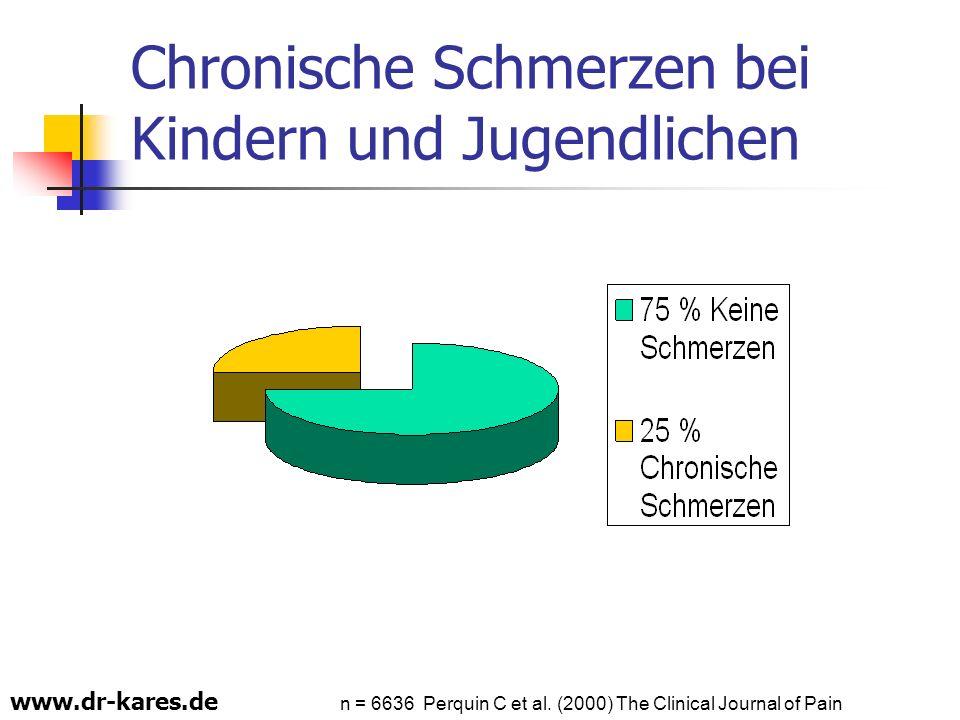 www.dr-kares.de Chronische Schmerzen bei Kindern und Jugendlichen n = 6636 Perquin C et al. (2000) The Clinical Journal of Pain