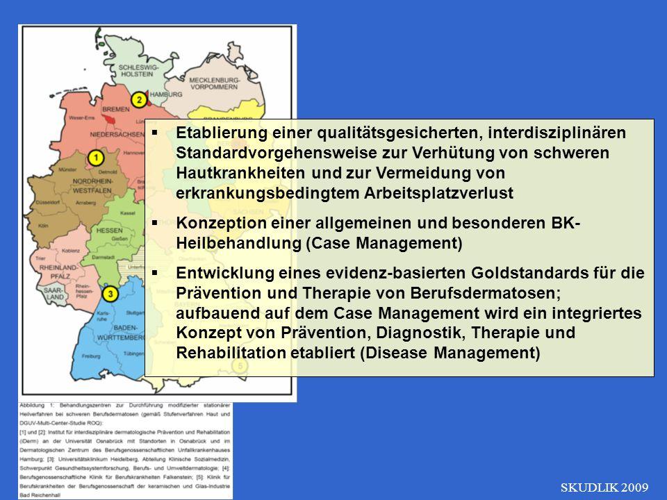SKUDLIK 2009 Etablierung einer qualitätsgesicherten, interdisziplinären Standardvorgehensweise zur Verhütung von schweren Hautkrankheiten und zur Verm