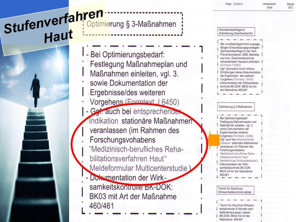 SKUDLIK 2009 Drechsel- Schlund et al. 2007, Die BG 01/07 Stufenverfahren Haut