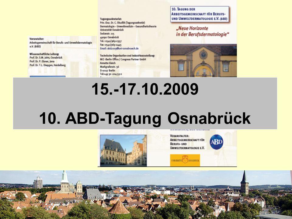 15.-17.10.2009 10. ABD-Tagung Osnabrück