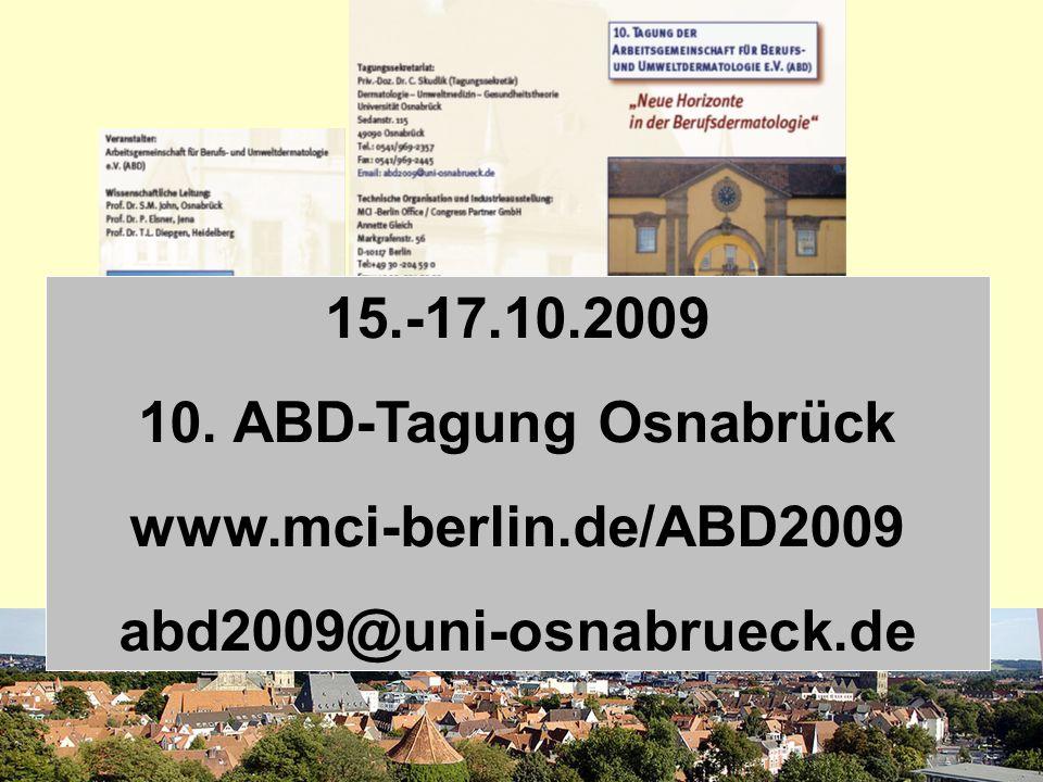 SKUDLIK 2009 15.-17.10.2009 10. ABD-Tagung Osnabrück www.mci-berlin.de/ABD2009 abd2009@uni-osnabrueck.de