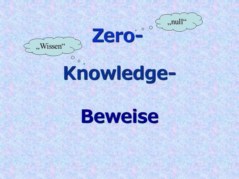 Knowledge- Zero- Beweise null Wissen