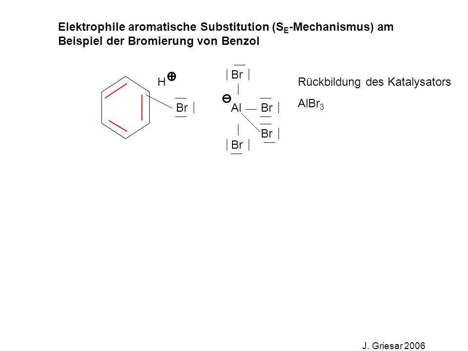 Elektrophile aromatische Substitution (S E -Mechanismus) am Beispiel der Bromierung von Benzol J.