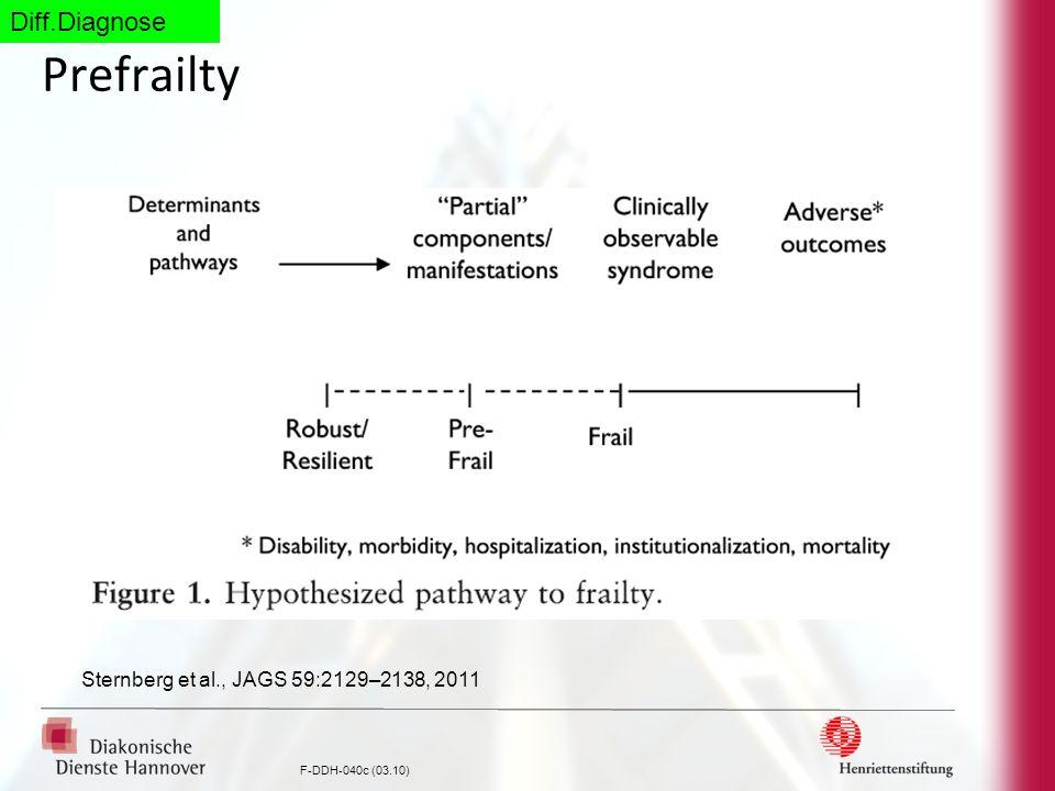 F-DDH-040c (03.10) Prefrailty Sternberg et al., JAGS 59:2129–2138, 2011 Diff.Diagnose