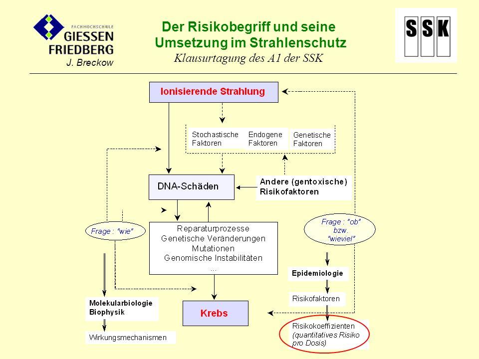 Der Risikobegriff und seine Umsetzung im Strahlenschutz Klausurtagung des A1 der SSK J. Breckow