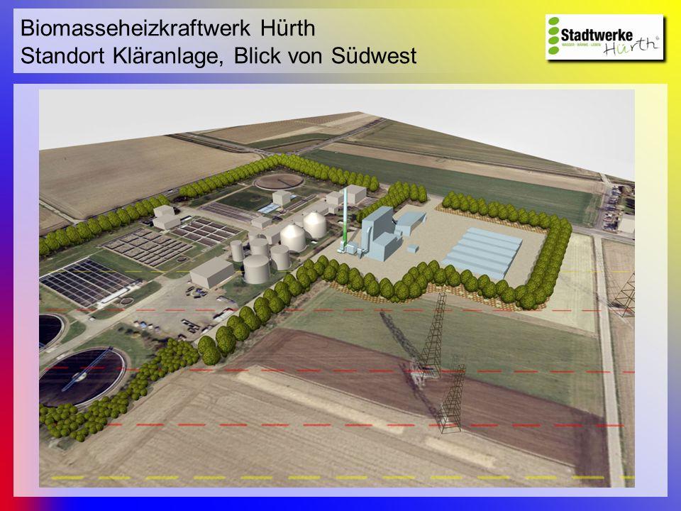 Biomasseheizkraftwerk Hürth Standort Kläranlage, Blick von Südwest
